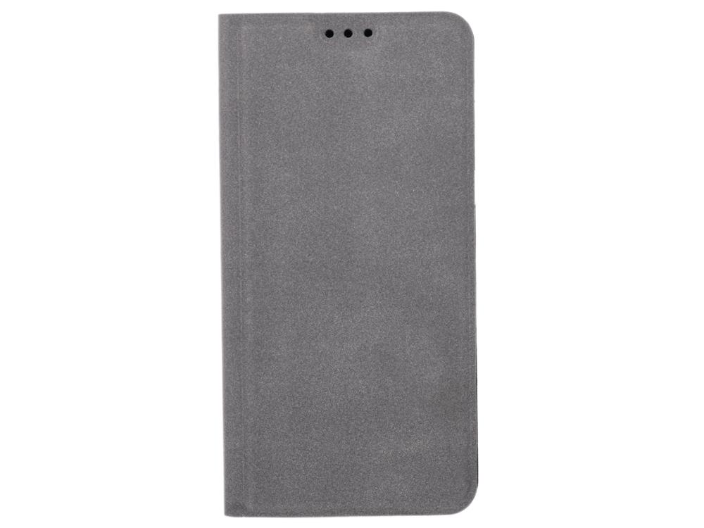 Чехол-книжка для Samsung Galaxy A8 BoraSCO Book Case Gray флип, искусственная кожа, пластик чехол книжка для iphone 6 7 8 borasco book case orange флип искусственная кожа пластик