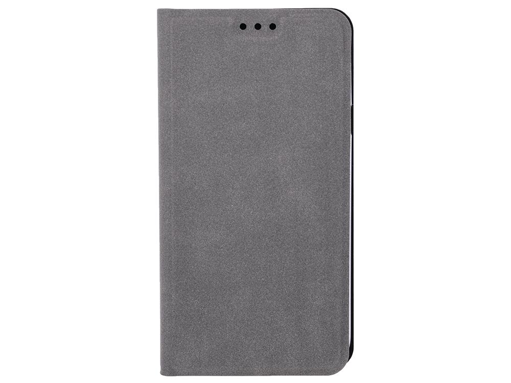 Чехол-книжка для Samsung Galaxy J4 BoraSCO Book Case Gray флип, искусственная кожа mooncase окно просмотра кожа флип сторона чехол подставка чехол для samsung galaxy note 3 neo n750 lite n7505 белый