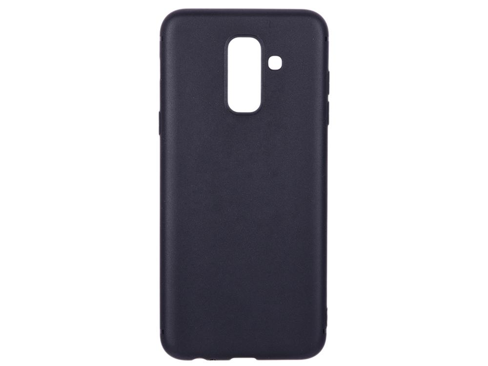 Чехол-накладка для Samsung Galaxy A6+ BoraSCO Mate Black клип-кейс, силикон все цены