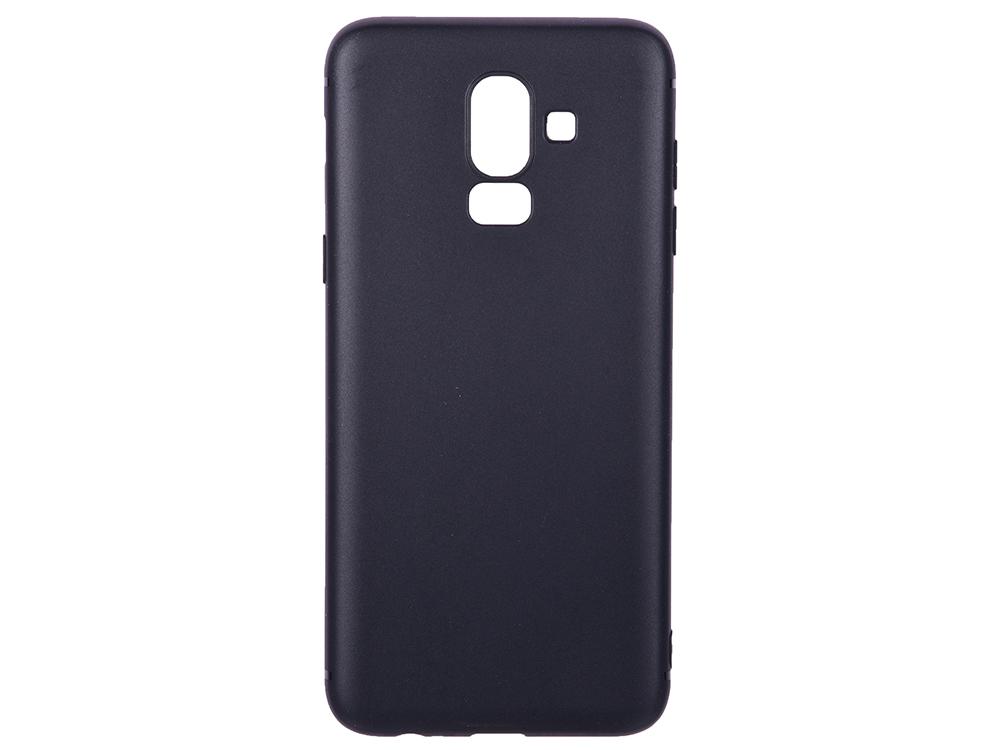Чехол для Samsung Galaxy J8 BoraSCO Mate Black клип-кейс, силикон аксессуар чехол для samsung galaxy j8 2018 gurdini soft touch silicone black 907522