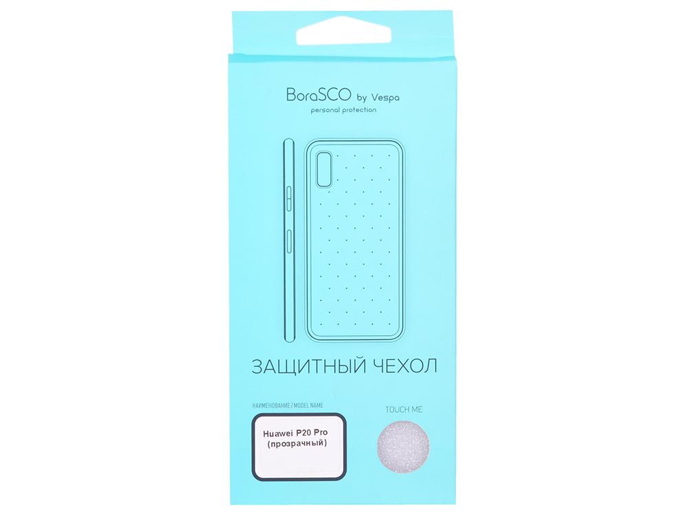 Чехол-накладка для Huawei P20 Pro BoraSCO Crystal клип-кейс, прозрачный силикон цена и фото