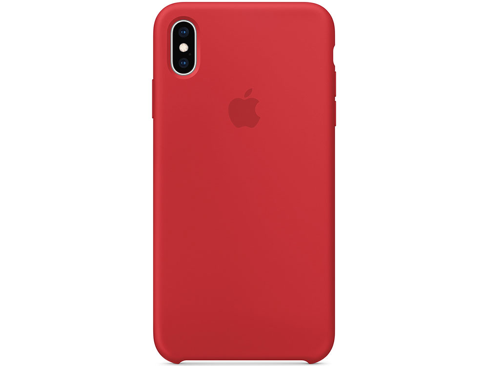 iPhone XS Max Silicone Case - (PRODUCT)RED matte protective silicone back case for iphone 5c red