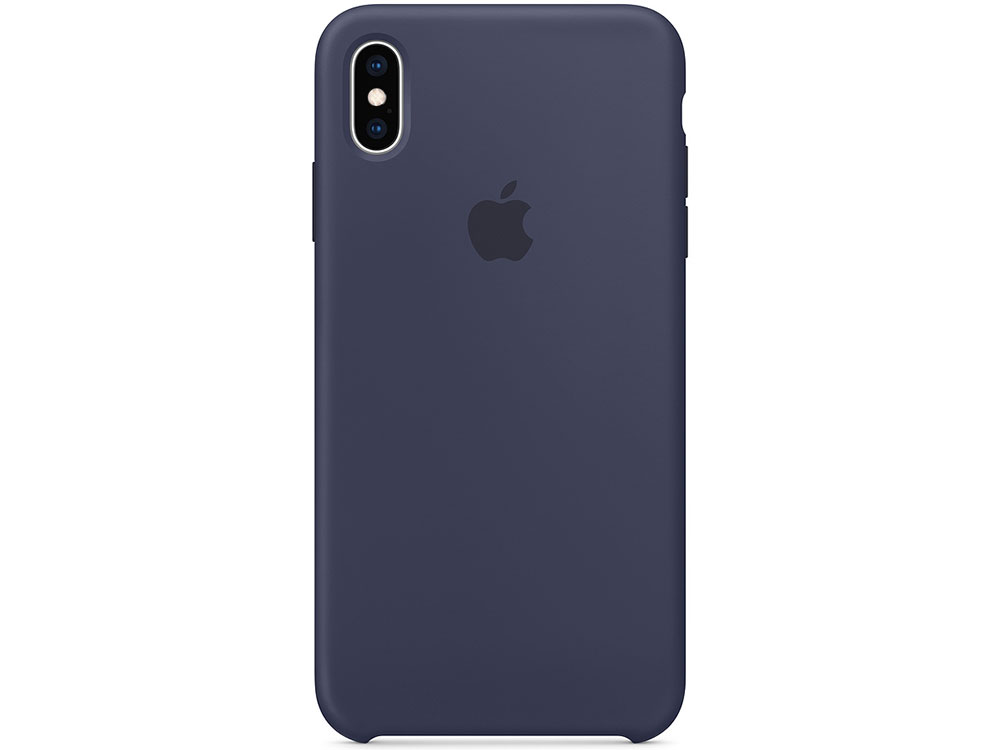 Чехол для смартфона Apple MRWG2ZM/A iPhone XS Max Silicone Case - Midnight Blue цена