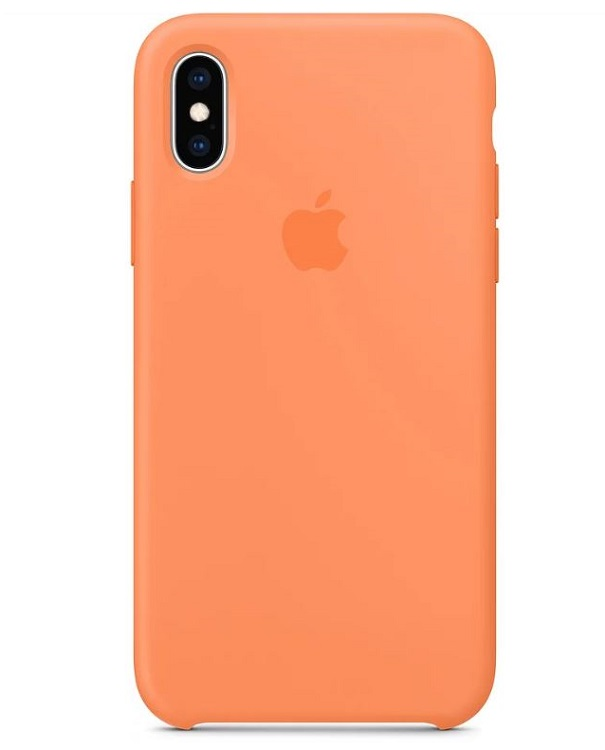 Силиконовый чехол Apple Silicone Case MVF22ZM/A для iPhone XS - Papaya аксессуар чехол для apple iphone 6 innovation silicone transparent 12216