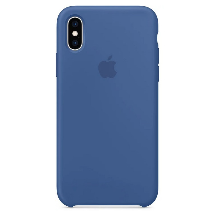 Чехол для смартфона Apple Silicone Case MVF12ZM/A для iPhone XS - Delft Blue чехол matchnine jello pebble для apple iphone x blue
