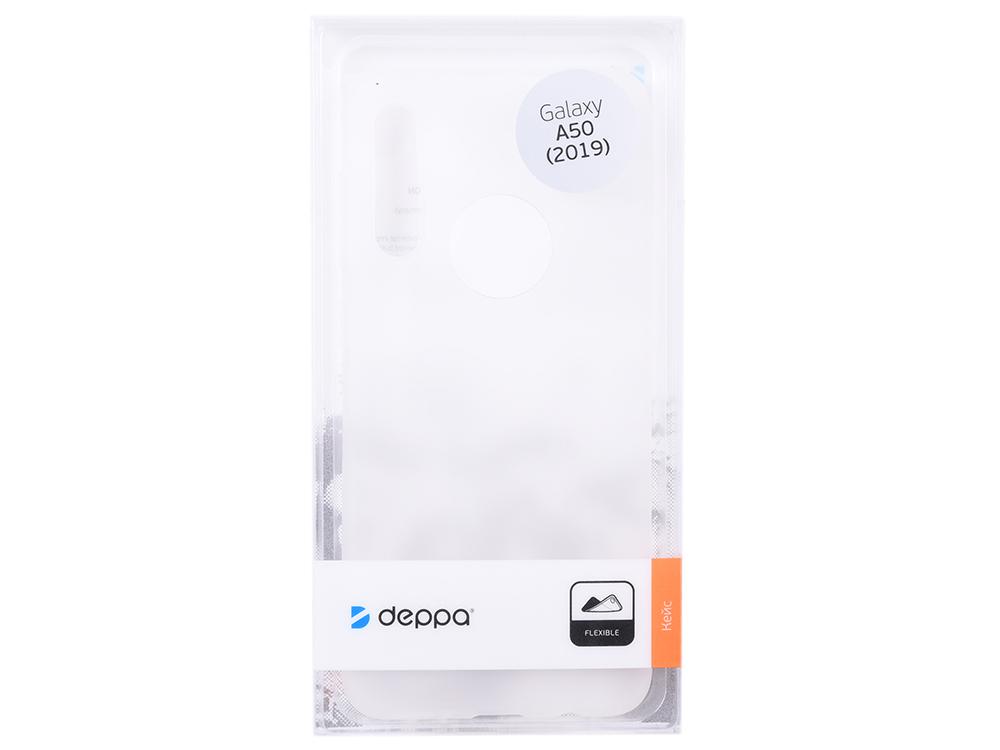 Чехол Deppa Gel Color Case для Samsung Galaxy A50 (2019), белый deppa fifa москва чехол для samsung galaxy j3 2017 blue