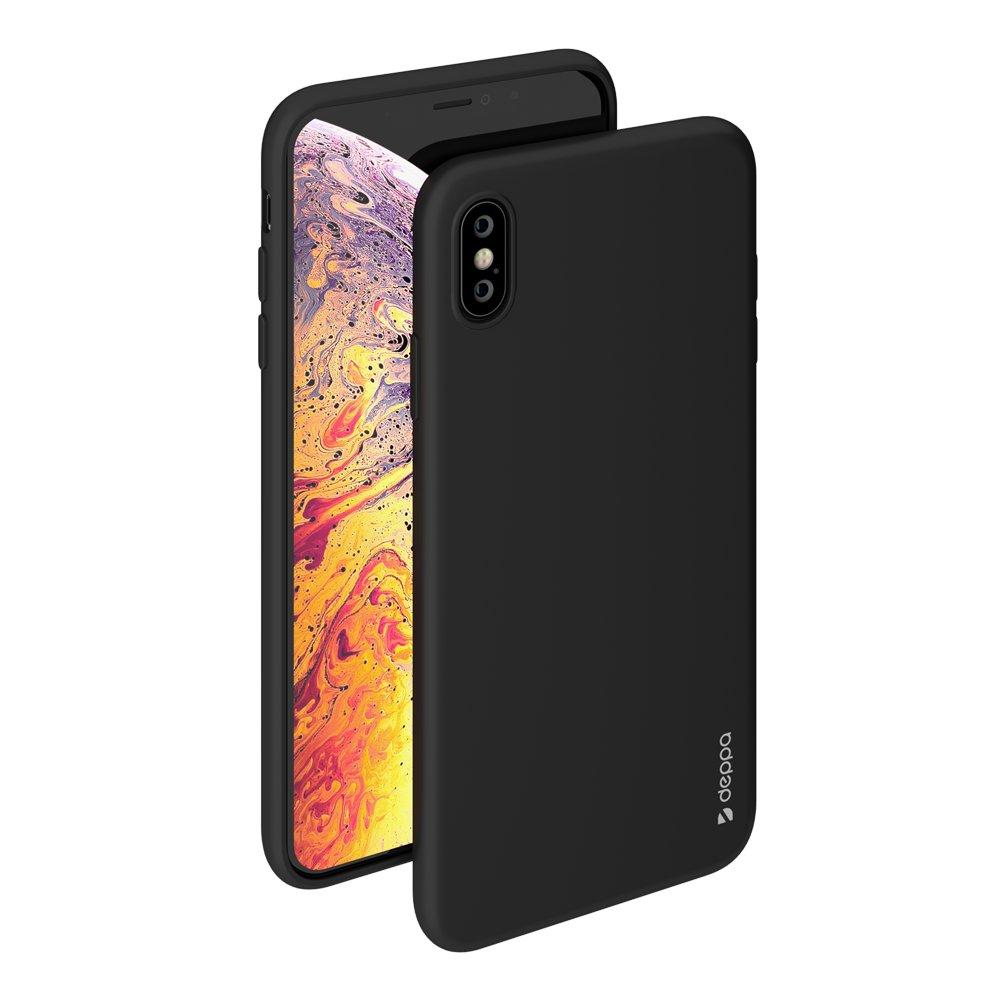 Чехол Deppa Gel Color Case для Apple iPhone XS Max, черный чехол deppa gel case 85335 для apple iphone x xs прозрачный