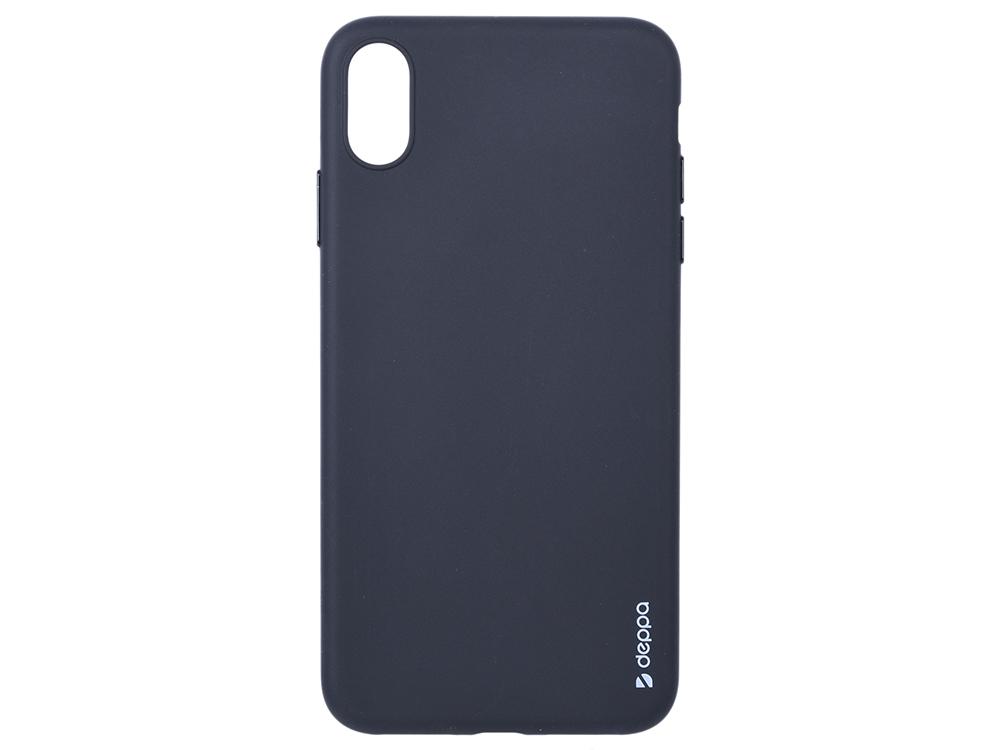 Чехол Deppa Gel Color Case для Apple iPhone XS Max, черный чехол deppa gel case для apple iphone xs max прозрачный