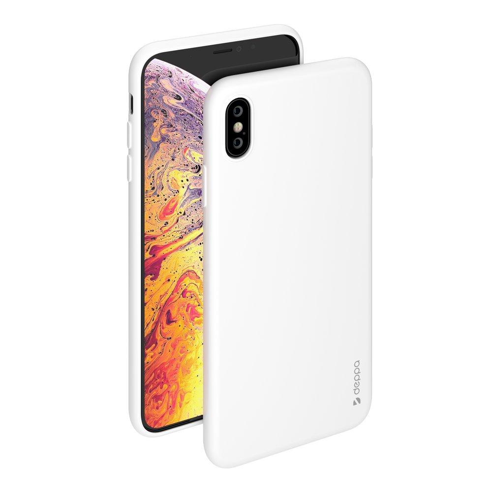 Чехол Deppa Gel Color Case для Apple iPhone XS Max, белый чехол deppa gel case 85335 для apple iphone x xs прозрачный