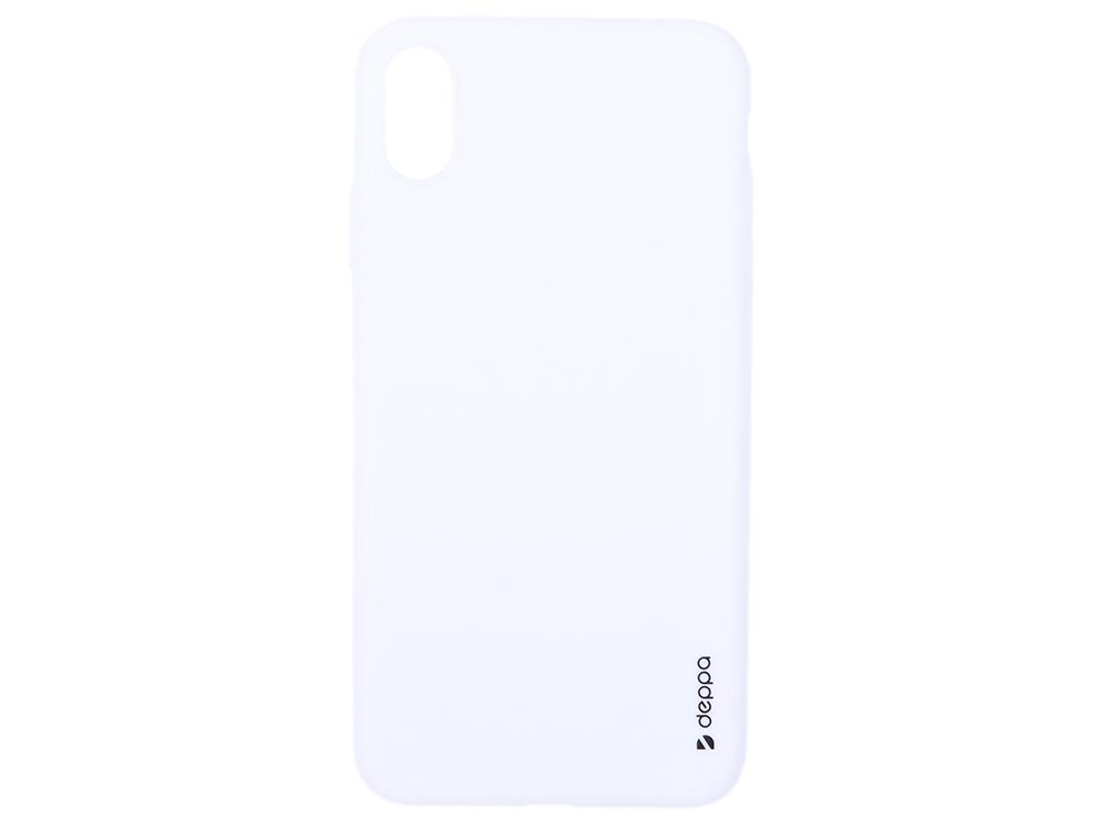 Чехол Deppa Gel Color Case для Apple iPhone XS Max, белый чехол для сотового телефона brosco softrubber для iphone xs max ipxsm softrubber white белый