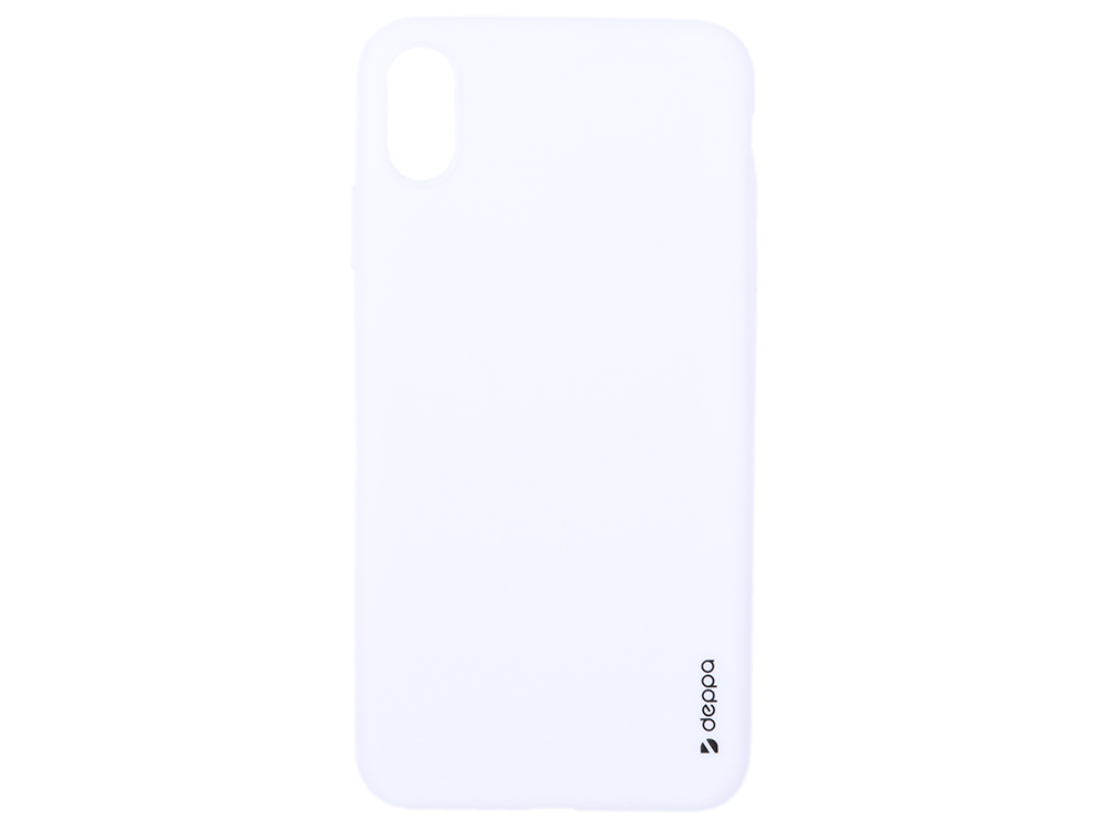 Чехол Deppa Gel Color Case для Apple iPhone XS Max, белый чехол deppa gel case для apple iphone xs max прозрачный