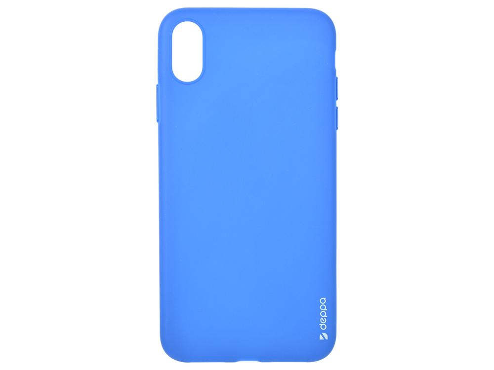 Чехол Deppa Gel Color Case для Apple iPhone XS Max, синий чехол deppa gel case для apple iphone xs max прозрачный