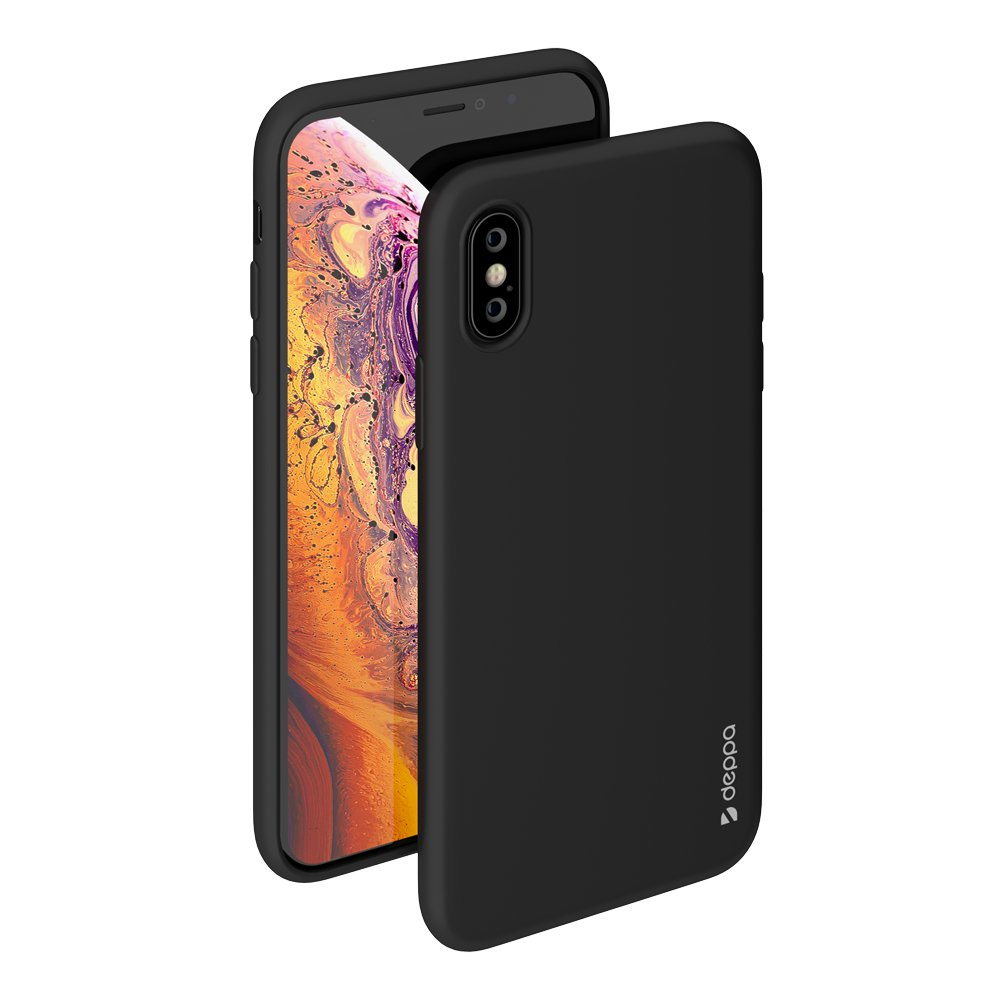 Чехол Deppa Gel Color Case для Apple iPhone X/XS, черный deppa gel case чехол для apple iphone x transporant