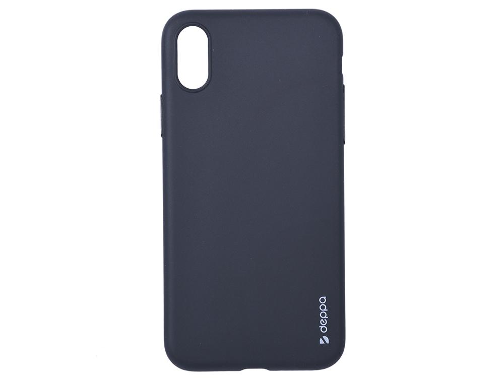 Чехол Deppa Gel Color Case для Apple iPhone X/XS, черный чехол deppa gel case для apple iphone xs max прозрачный