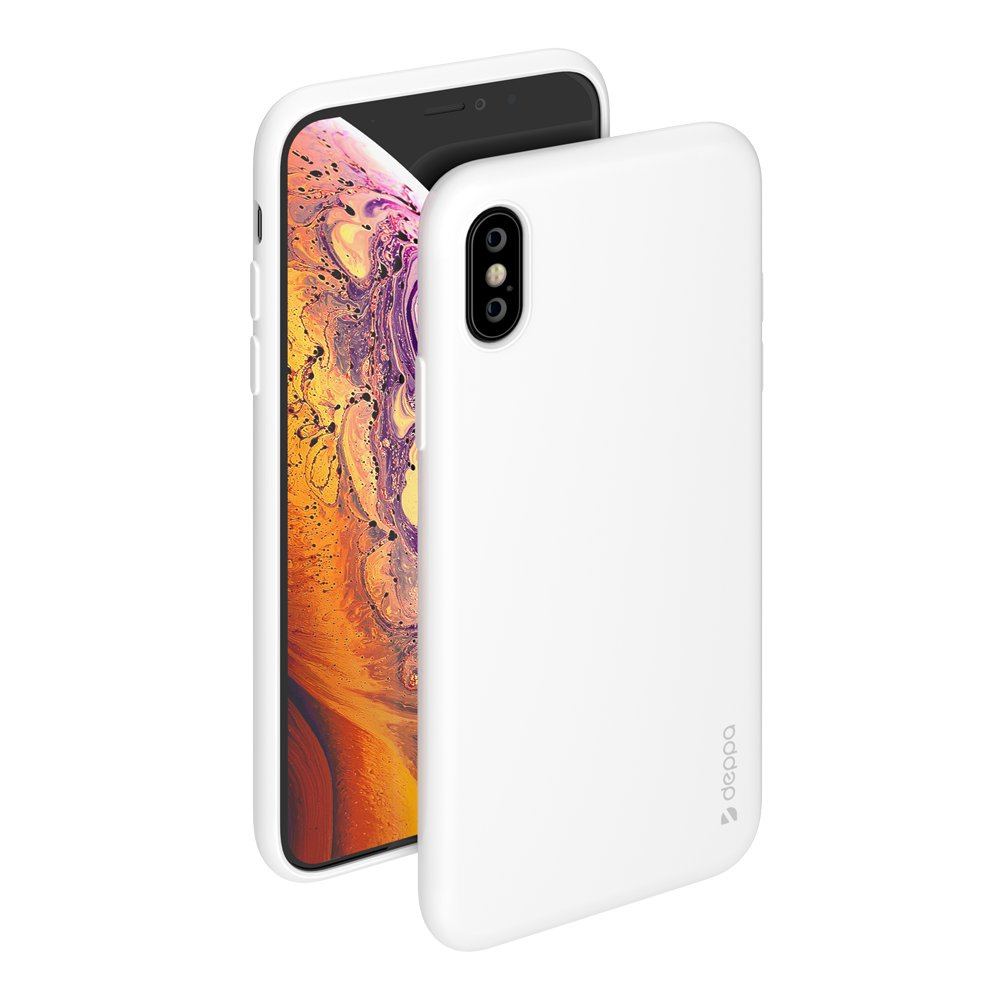 Чехол Deppa Gel Color Case для Apple iPhone X/XS, белый deppa gel case чехол для apple iphone x transporant