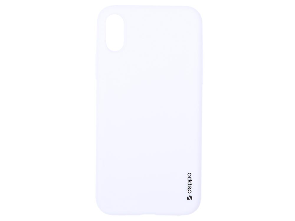 Чехол Deppa Gel Color Case для Apple iPhone X/XS, белый чехол deppa gel case для apple iphone xs max прозрачный