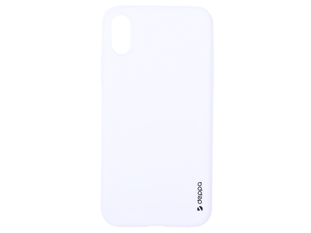 Чехол Deppa Gel Color Case для Apple iPhone X/XS, белый цена и фото