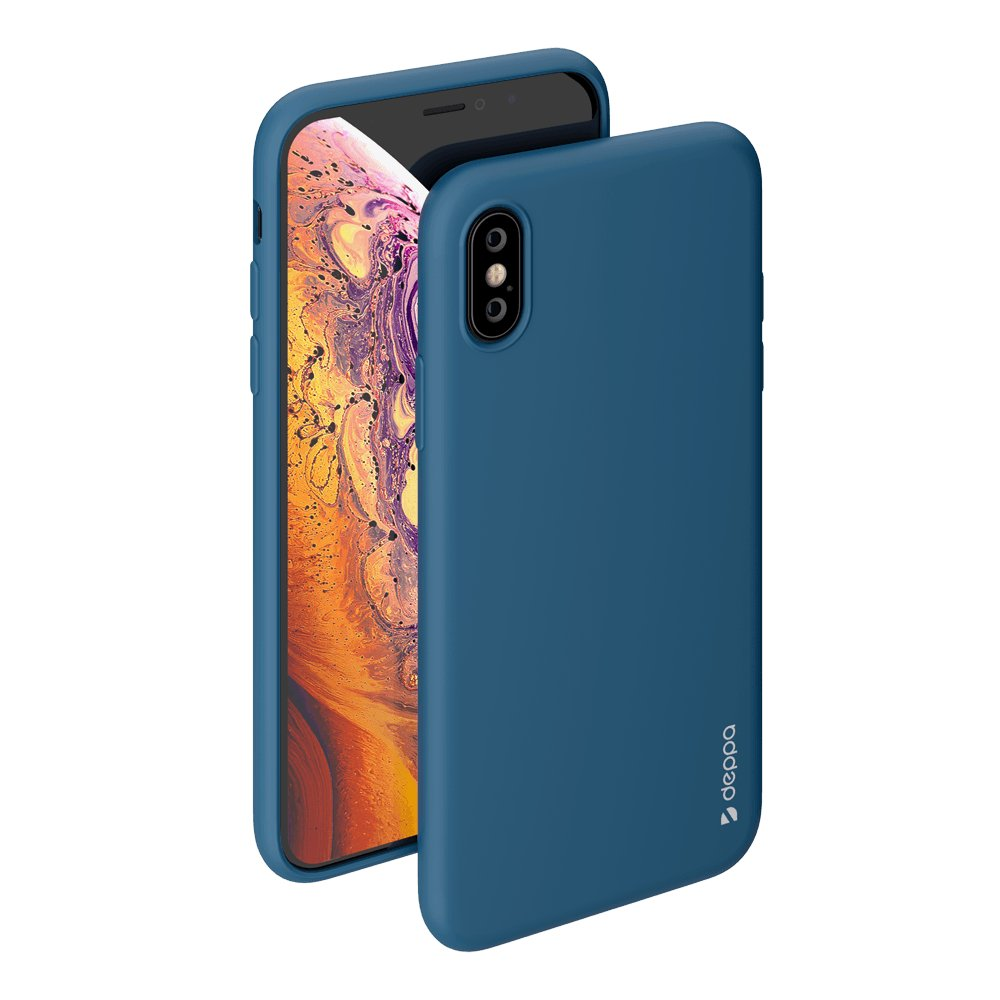 Чехол Deppa Gel Color Case для Apple iPhone X/XS, синий deppa gel case чехол для apple iphone x transporant