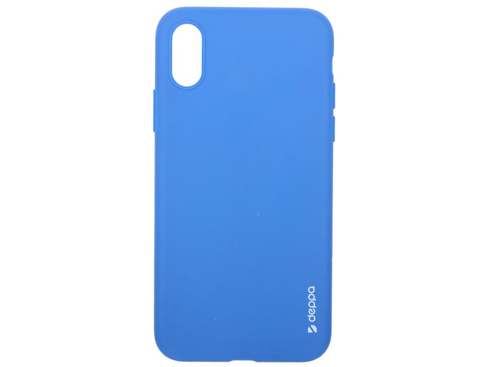 Чехол Deppa Gel Color Case для Apple iPhone X/XS, синий чехол deppa gel case для apple iphone xs max прозрачный