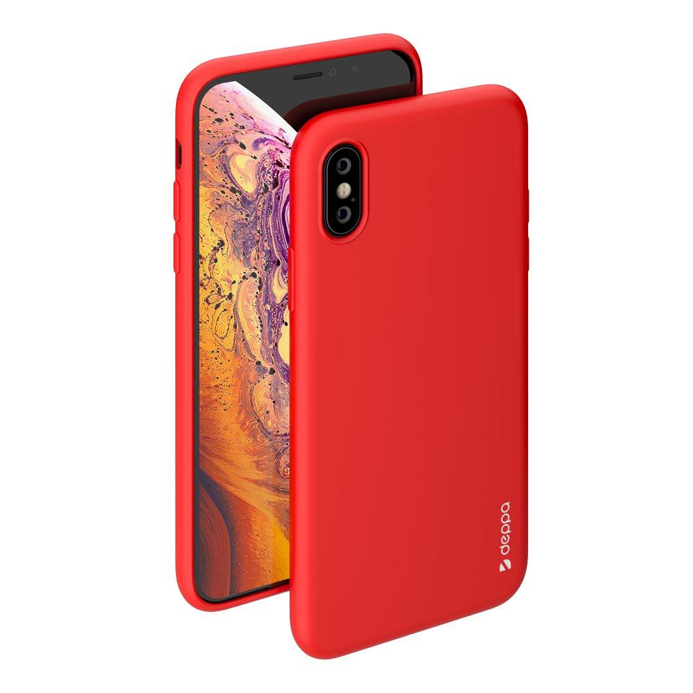 Чехол Deppa Gel Color Case для Apple iPhone X/XS, красный чехол deppa gel case 85335 для apple iphone x xs прозрачный