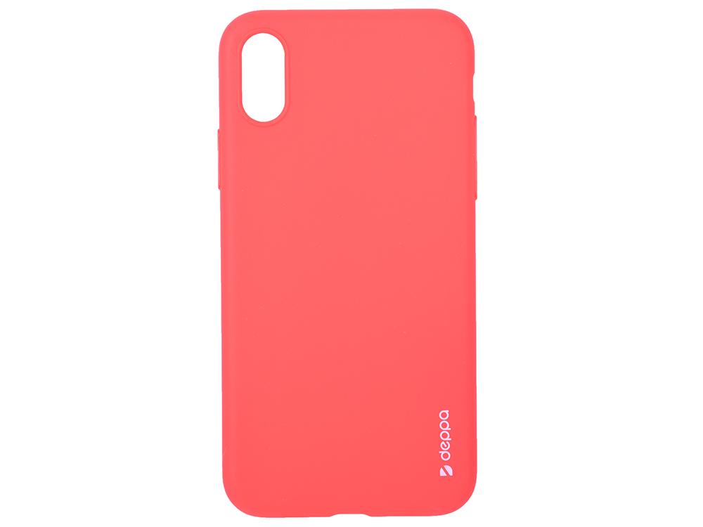 Чехол Deppa Gel Color Case для Apple iPhone X/XS, красный чехол deppa gel case для apple iphone xs max прозрачный