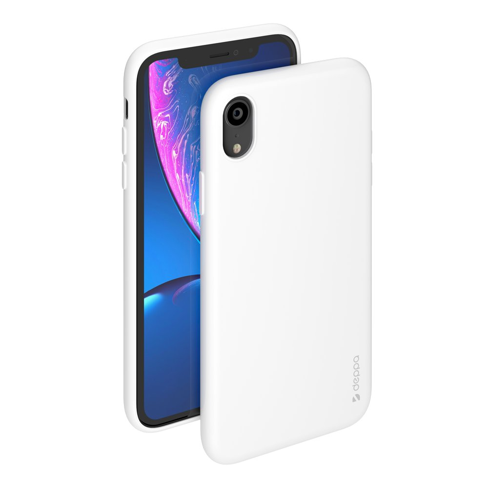 Чехол Deppa Gel Color Case для Apple iPhone XR, белый чехол клип кейс deppa glass case для apple iphone xr золотистый [86511]