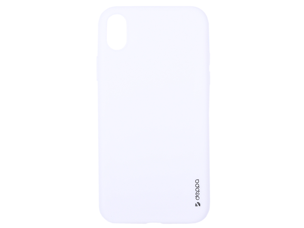 Чехол Deppa Gel Color Case для Apple iPhone XR, белый цена в Москве и Питере