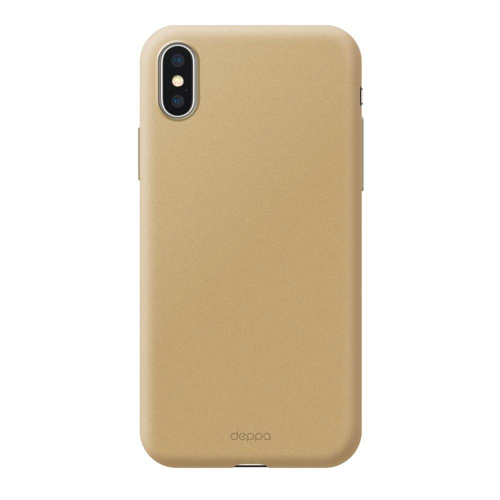 Чехол Deppa Air Case для Apple iPhone XS Max, золотой чехол deppa air case для apple iphone x xs розовое золото