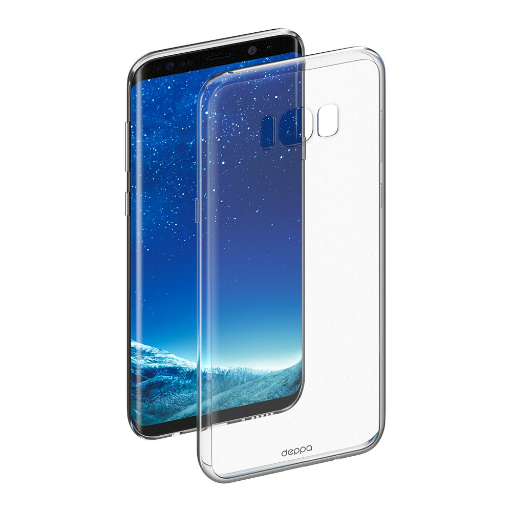 Чехол Deppa Gel Case для Samsung Galaxy S8+, прозрачный цена 2017