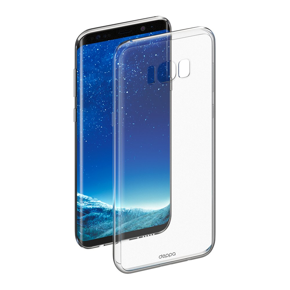 Чехол Deppa Gel Case для Samsung Galaxy S8, прозрачный цена 2017
