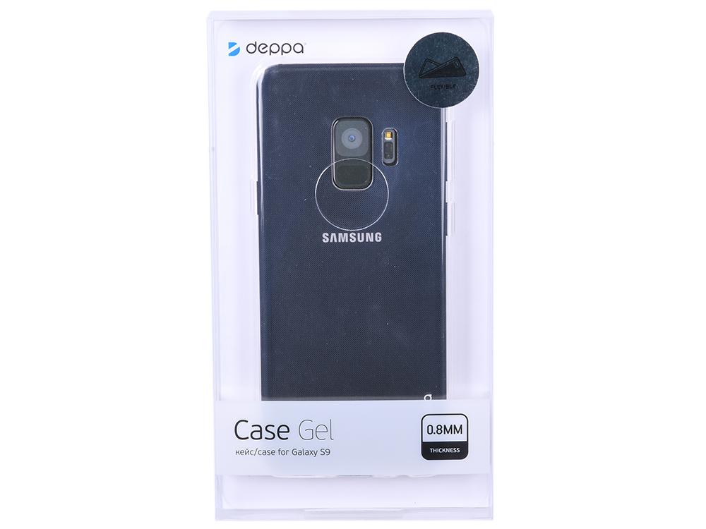 Чехол Deppa Gel Case для Samsung Galaxy S9, прозрачный цена в Москве и Питере
