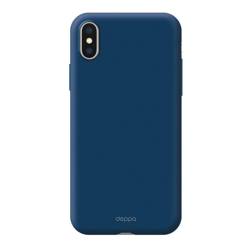 Чехол Deppa Air Case для Apple iPhone X/XS, синий чехол deppa air case для apple iphone x xs розовое золото