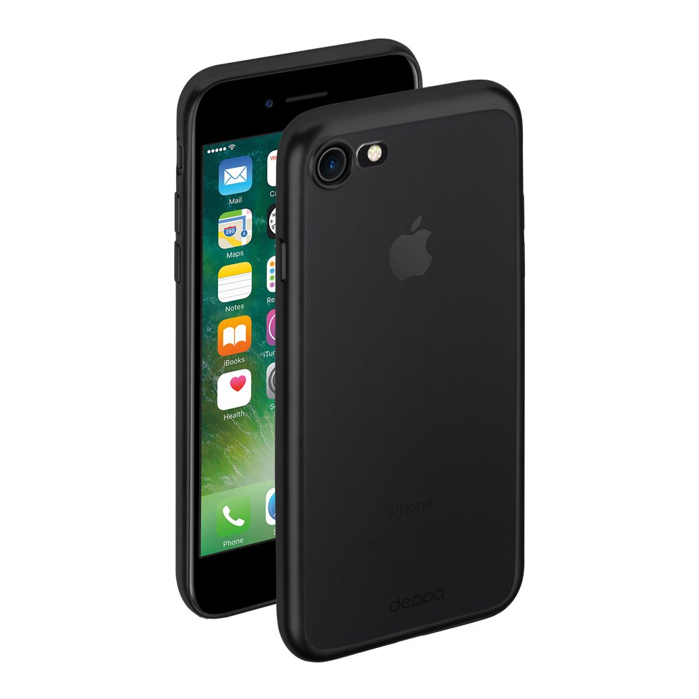 Чехол Deppa Gel Plus Case матовый для Apple iPhone 7/8, черный цена и фото