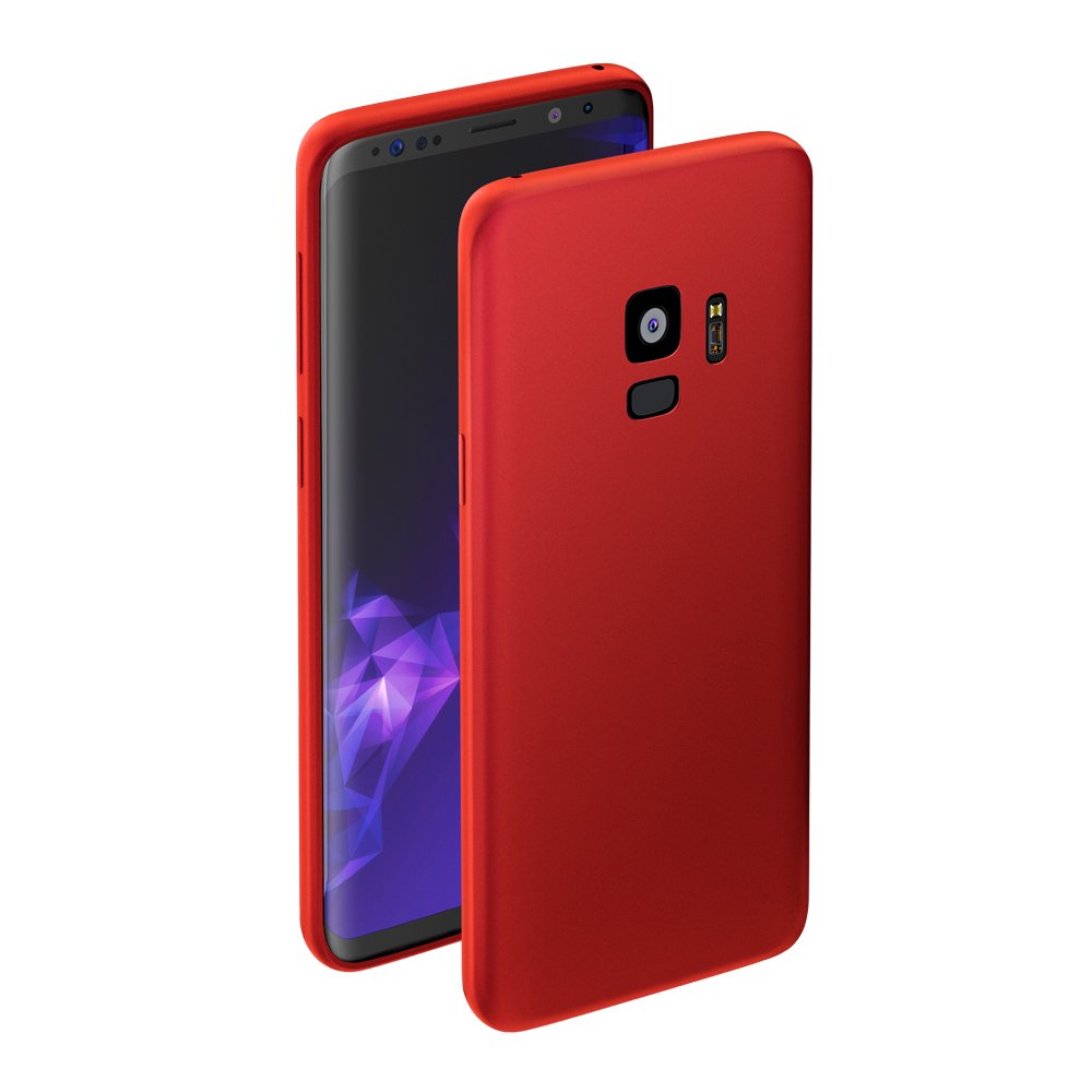 Чехол Deppa Case Silk для Samsung Galaxy S9, красный металлик