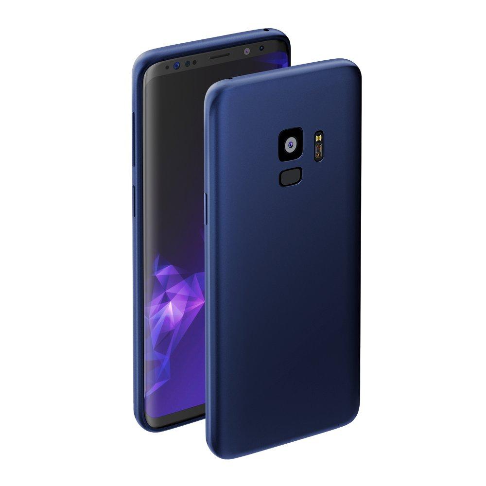 Чехол Deppa Case Silk для Samsung Galaxy S9, синий металлик