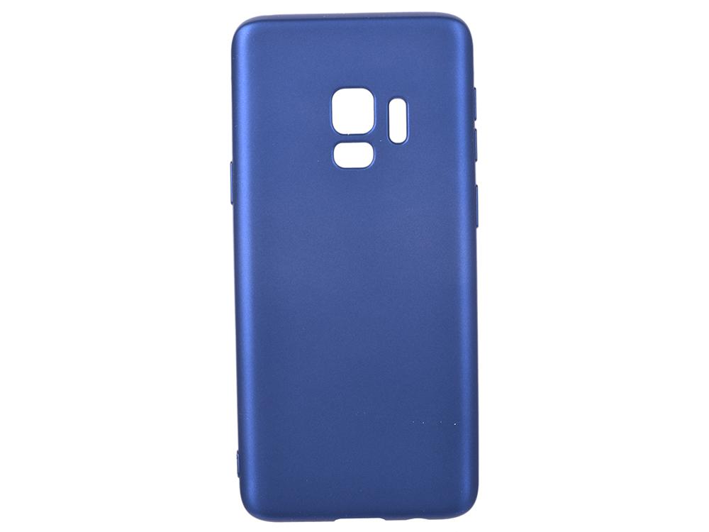 цена на Чехол Deppa Case Silk для Samsung Galaxy S9, синий металлик