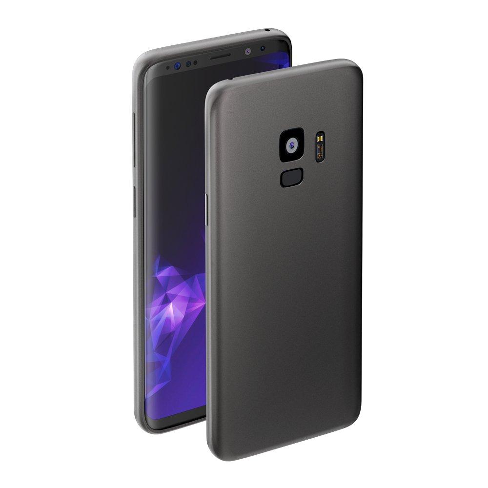 Чехол Deppa Case Silk для Samsung Galaxy S9, темно-серый металлик