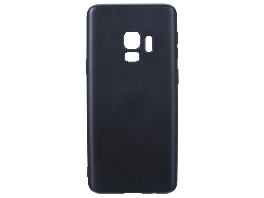 Чехол Deppa Case Silk для Samsung Galaxy S9, черный металлик фото