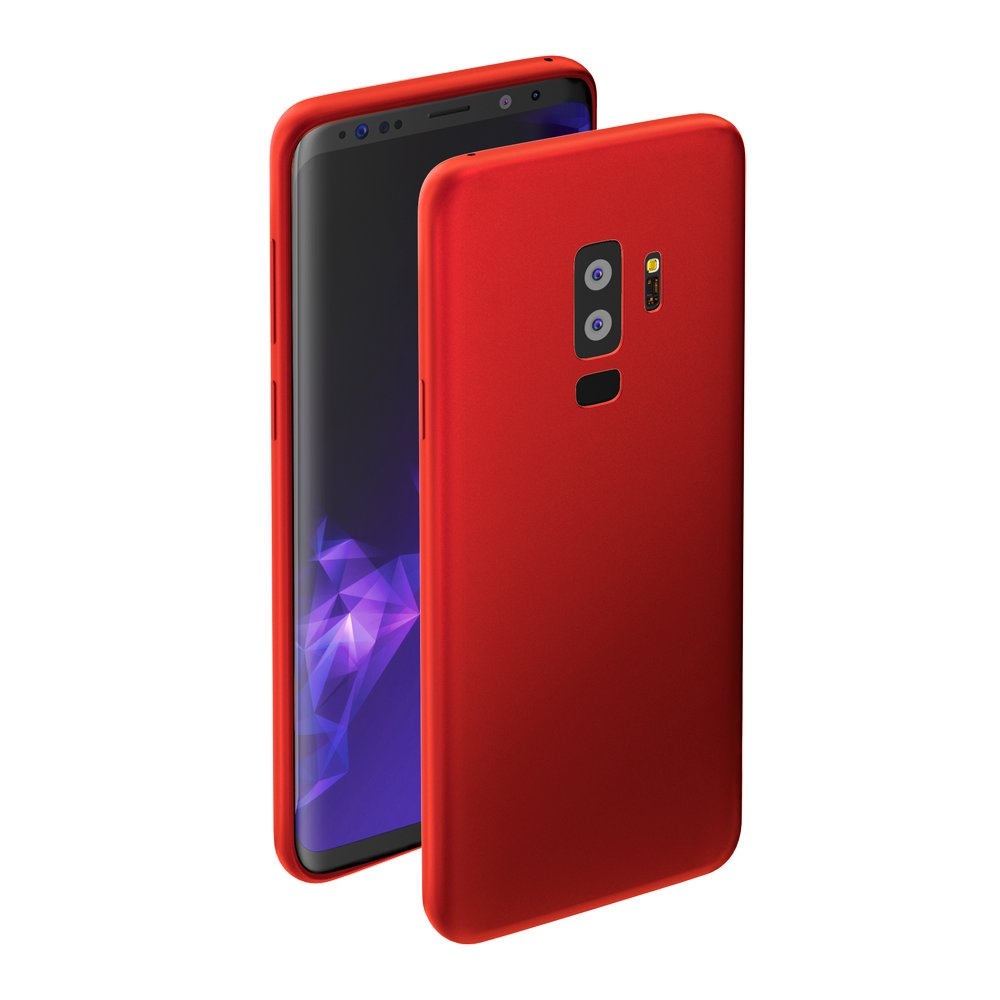 Чехол Deppa Case Silk для Samsung Galaxy S9+, красный металлик