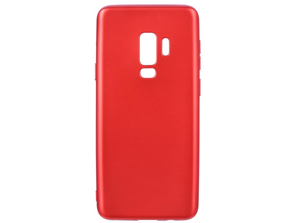 цена на Чехол Deppa Case Silk для Samsung Galaxy S9+, красный металлик