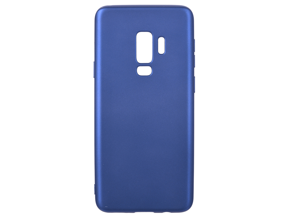 Чехол Deppa Case Silk для Samsung Galaxy S9+, синий металлик
