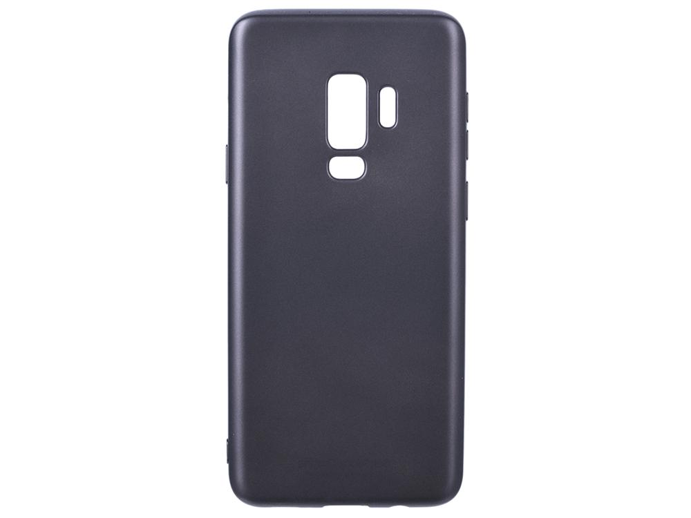 Чехол Deppa Case Silk для Samsung Galaxy S9+, темно-серый металлик