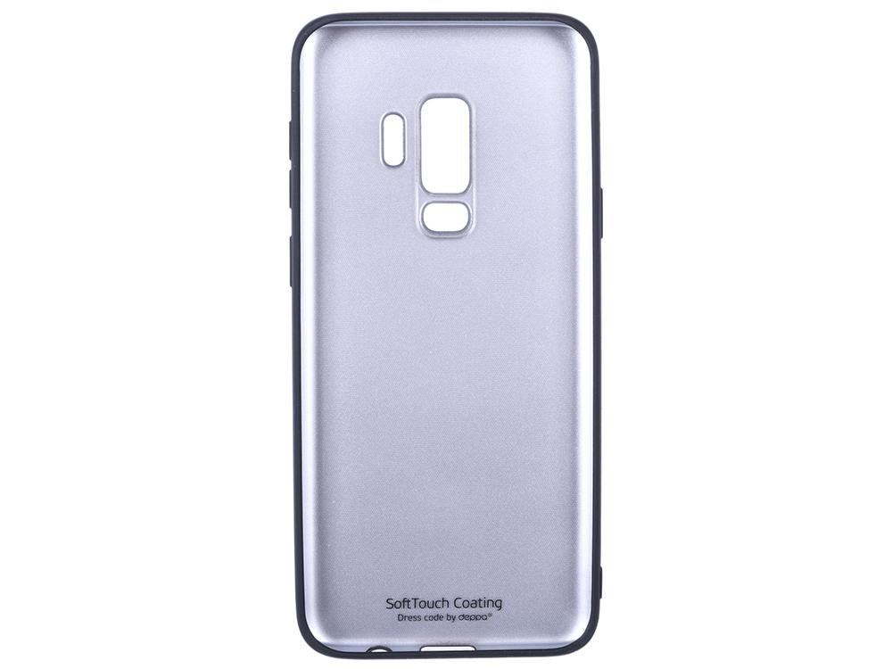 Фото - Чехол Deppa Case Silk для Samsung Galaxy S9+, черный металлик чехол