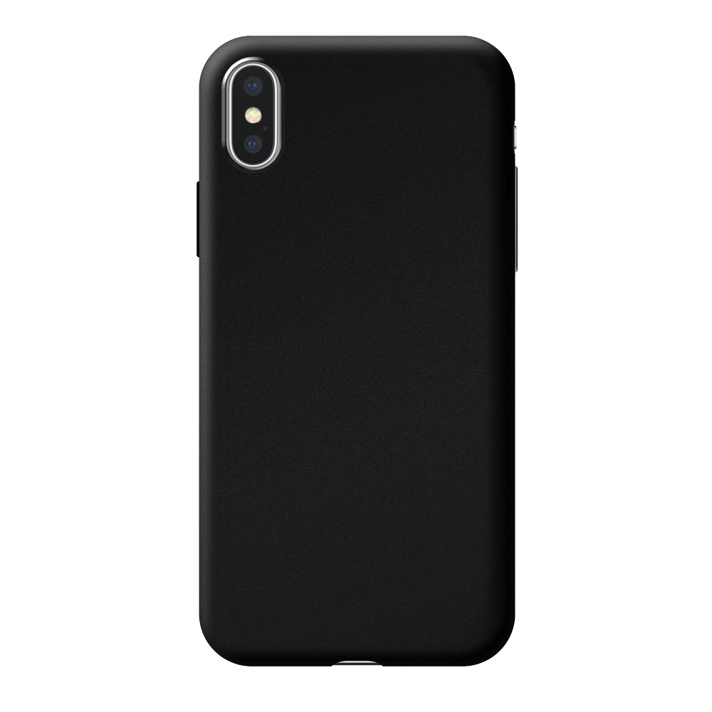 Чехол Deppa Case Silk для Apple iPhone X/XS, черный металлик чехол deppa case silk для apple iphone x xs синий металлик