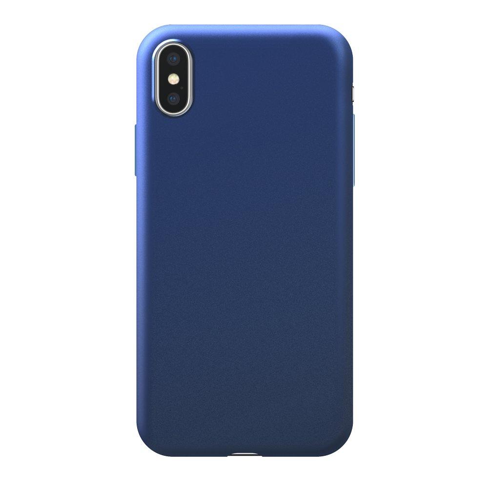 Чехол Deppa Case Silk для Apple iPhone X/XS, синий металлик чехол deppa air case для apple iphone x xs синий