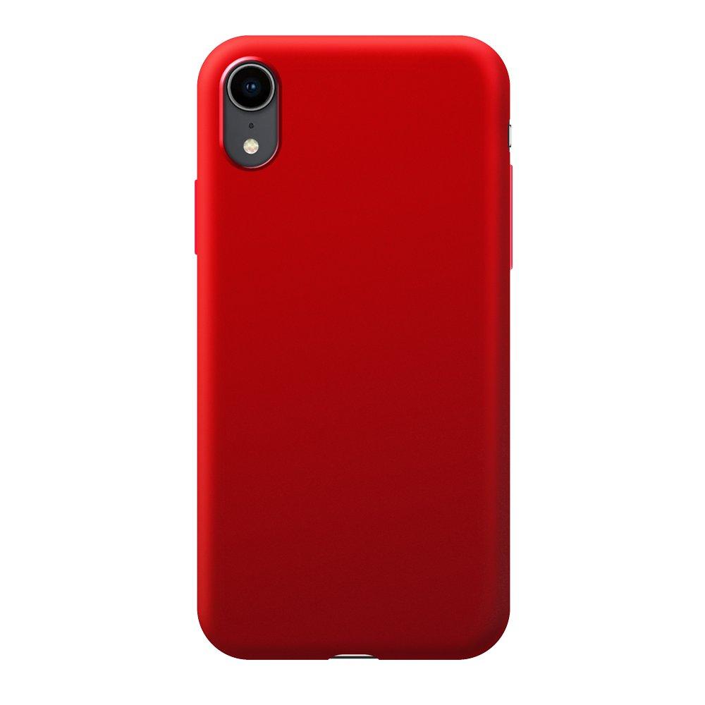 Чехол Deppa Case Silk для Apple iPhone XR, красный металлик чехол deppa case silk для apple iphone x xs синий металлик