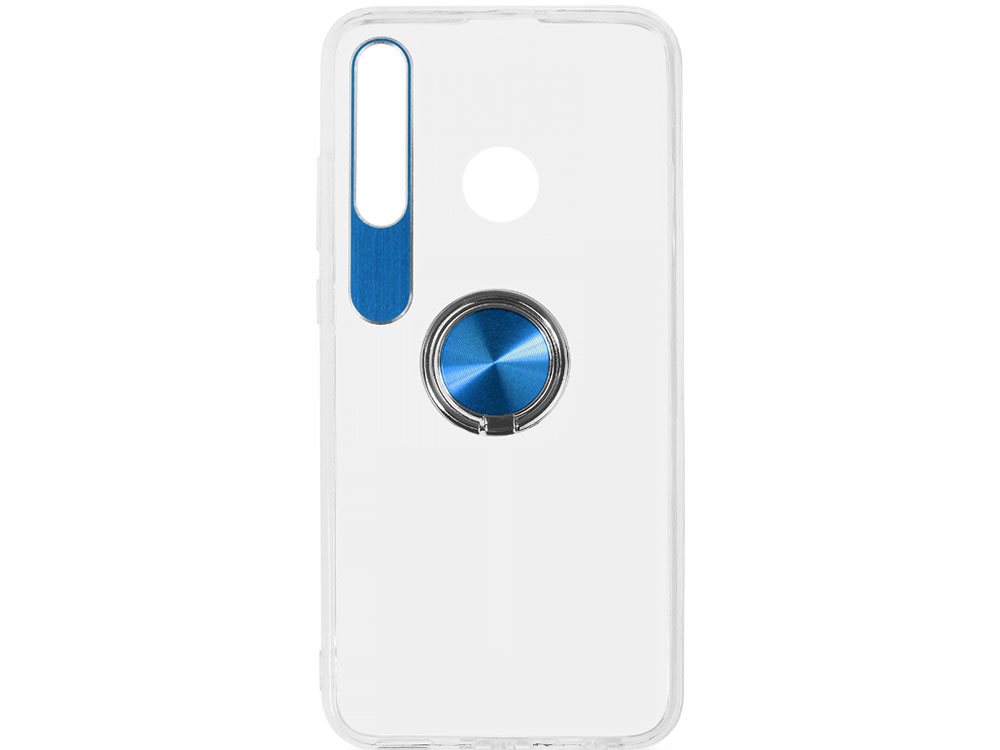 Чехол с кольцом-держателем для Huawei Honor 10i DF hwTRing-02 (blue) чехол с кольцом держателем для huawei honor 8a df hwring 02 black