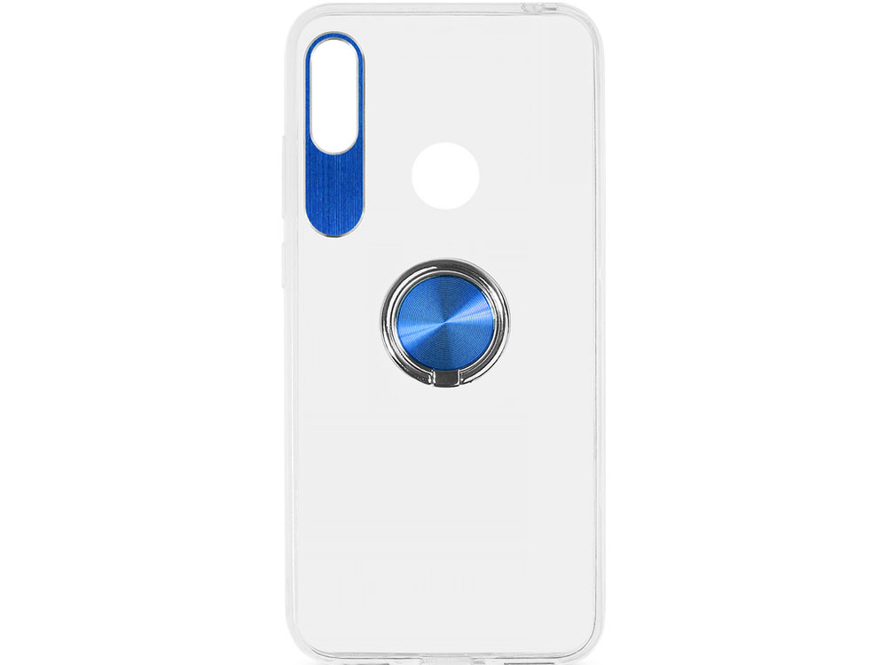 Чехол с кольцом-держателем для Huawei Honor 8A/Y6 (2019) DF hwTRing-01 (blue) чехол с кольцом держателем для huawei honor 8a df hwring 02 black