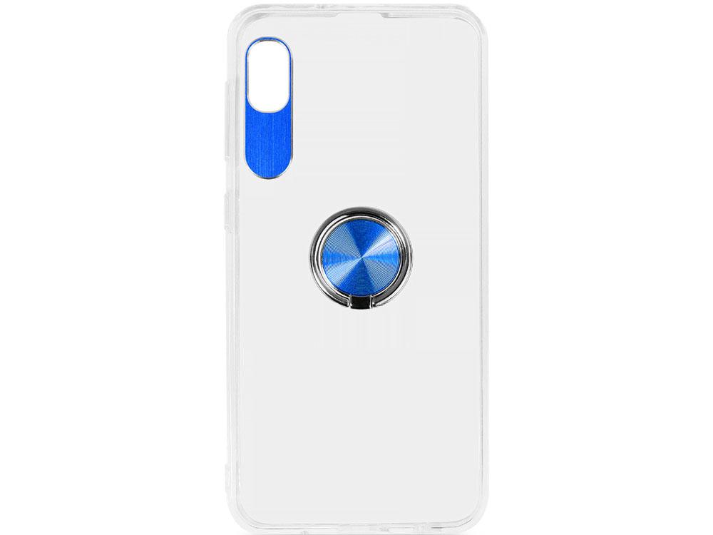 Чехол с кольцом-держателем для Samsung Galaxy A10 DF sTRing-01 (blue) аксессуар чехол df для samsung galaxy a10s soriginal 04 blue