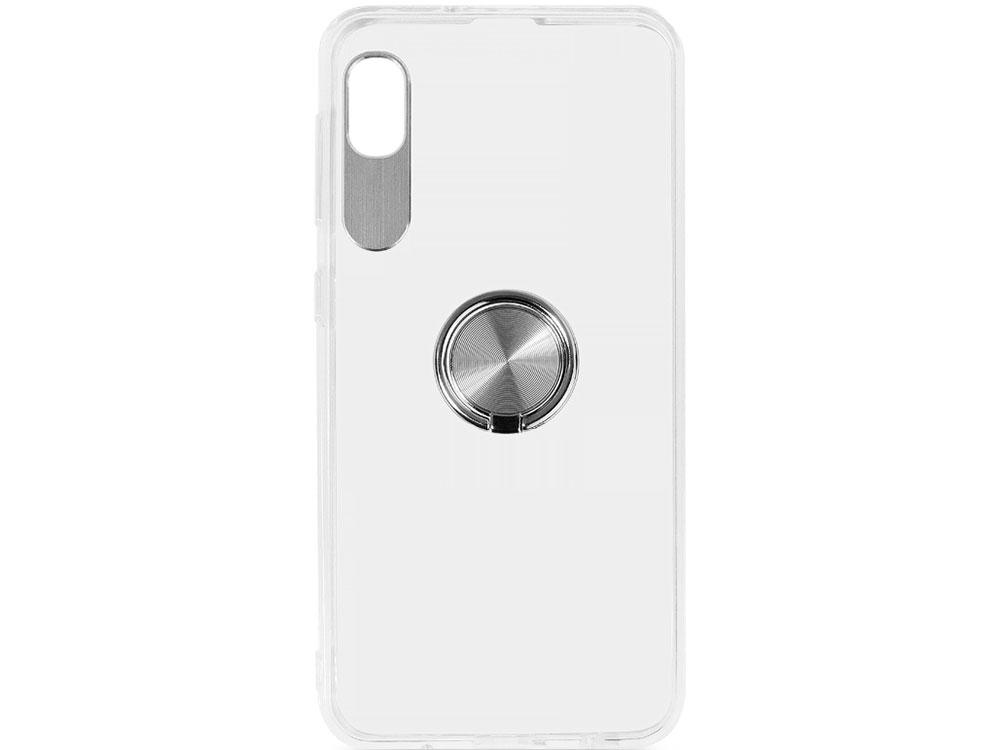 цена на Чехол с кольцом-держателем для Samsung Galaxy A10 DF sTRing-01 (silver)